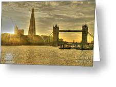 Golden City Greeting Card