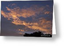 Golden Cloud Sunset Greeting Card