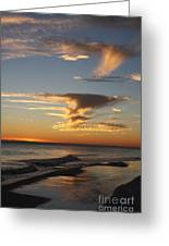 Golden Clouds And Blue Sky Greeting Card