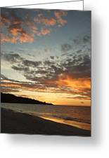 Golden Clouds At Grand Anse Greeting Card