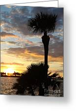 Golden Clouds Over Tampa Bay Greeting Card