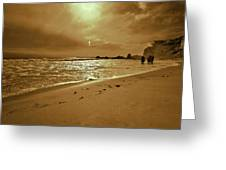 Golden Coast Sunset Greeting Card