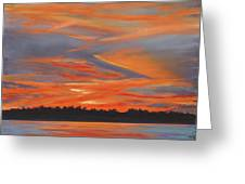 Golden Contrails Greeting Card