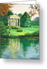 Golden Cottage Greeting Card