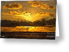 Golden Dawn - Canvas Greeting Card