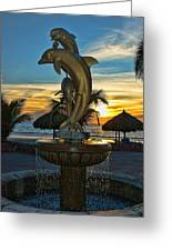 Golden Dolphins  Greeting Card