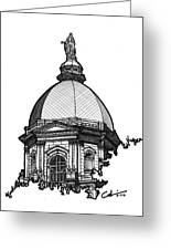 Golden Dome Greeting Card by Calvin Durham