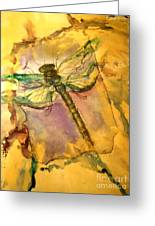 Golden Dragonfly Greeting Card by M C Sturman