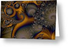 Golden Dream Of Fossils Greeting Card