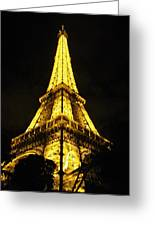 Golden Eiffel Tower Greeting Card