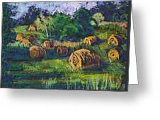 Golden Fields Of Door County Greeting Card