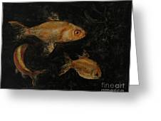Golden Fishes Greeting Card