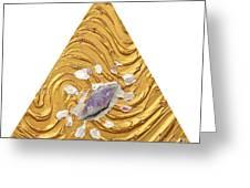 Golden Flow Creator Greeting Card