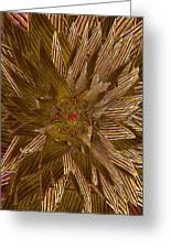 Golden Flower - Ruby Heart Greeting Card