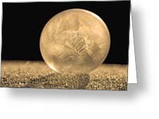 Golden Frozen Bubble Greeting Card