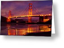 Golden Gate At Bakers Beach Greeting Card