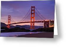 Golden Gate Dusk Greeting Card