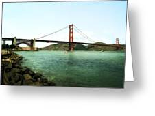 Golden Gate Bridge 2.0 Greeting Card by Michelle Calkins