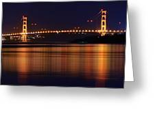Golden Gate Bridge After Dark Greeting Card