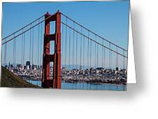 Golden Gate Bridge And San Francisco Greeting Card