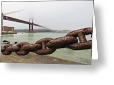Golden Gate Bridge Chain Greeting Card