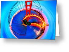 Golden Gate Bridge Circagraph Greeting Card