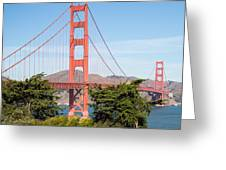 Golden Gate Bridge In San Francisco Greeting Card