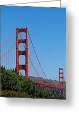 Golden Gate Bridge In Spring Greeting Card