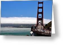 Golden Gate Bridge Looking South Greeting Card