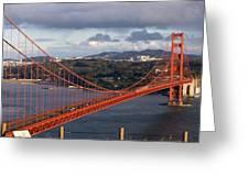 Golden Gate Bridge Overlook Greeting Card