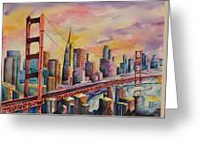 Golden Gate Bridge - San Francisco Greeting Card