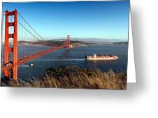 Golden Gate Bridge Scenic View In San Francisco Greeting Card