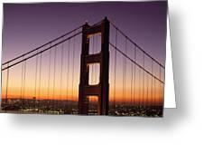 Golden Gate Bridge Sunrise From Marin Greeting Card