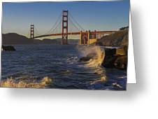 Golden Gate Bridge Sunset Study 2 Greeting Card