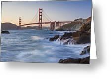 Golden Gate Bridge Sunset Study 5 Greeting Card