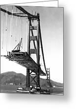 Golden Gate Bridge Work Greeting Card