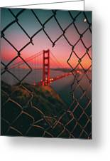 Golden Gate Caged Greeting Card