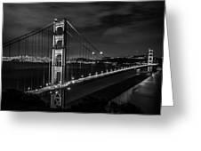 Golden Gate Evening- Mono Greeting Card