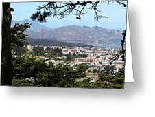 Golden Gate From Buena Vista Park Greeting Card