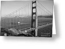 Golden Gate In Bw Greeting Card