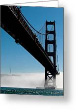 Golden Gate - In Silhouette  Greeting Card