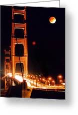 Golden Gate Night Greeting Card