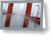 Golden Gate Rain Greeting Card