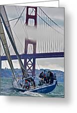 Golden Gate Sailing Greeting Card