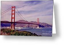 Golden Gate San Francisco Greeting Card