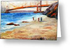 Golden Gate Stroll Greeting Card