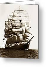 Golden Gate Tall Ship Circa 1905 Greeting Card