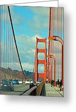 Golden Gate Walkway Greeting Card