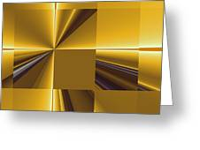 Golden Graphic Greeting Card