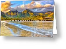 Golden Hanalei Morning Greeting Card